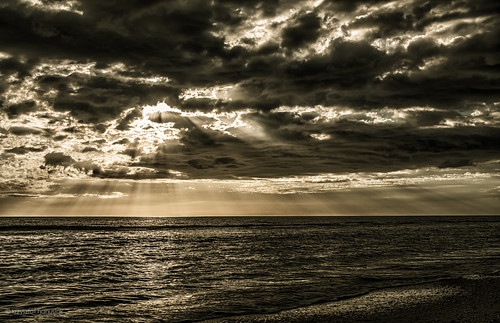 ocean sunset sea sun beach clouds unitedstates florida sunrays marcoisland
