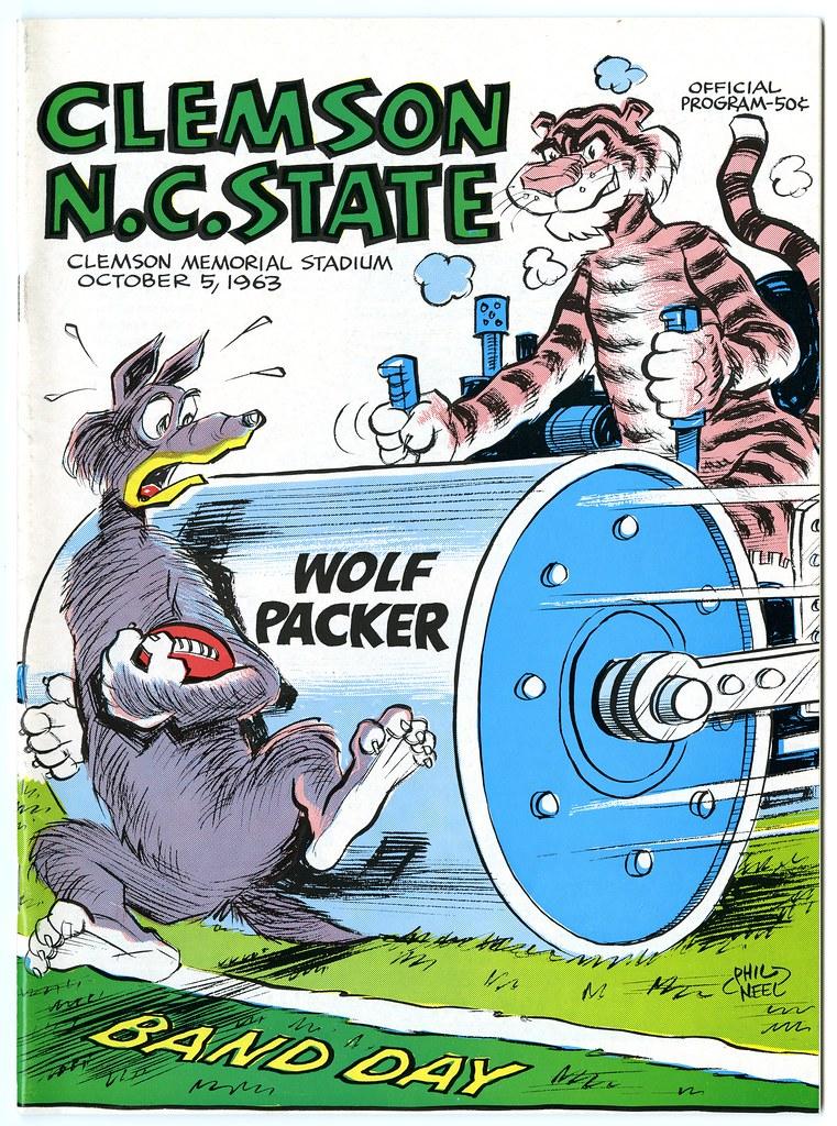 Clemson Vs North Carolina State October 5 1963 Clemson