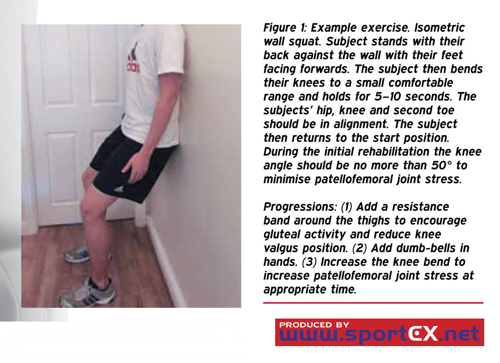 Example exercise  Isometric wall squat | sportEX journals