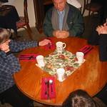Round table, square napkin