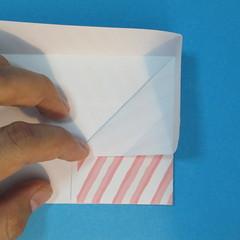วิธีพับกล่องกระดาษรูปหัวใจส่วนฐานกล่อง 015