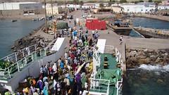 Djibouti 2013 - Arrivée du bac - Jetée de Tadjourah