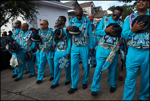 Black Men of Labor dance in memory of recently deceased member Edwin Harrison Sr. during the social aid & pleasure club's annual parade on October 23, 2016. Photo by Ryan Hodgson-Rigsbee rhrphoto.com
