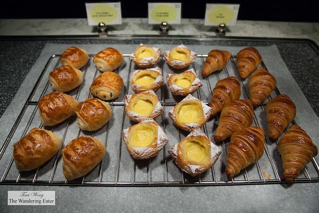 Breakfast pastries at Garden Kitchen