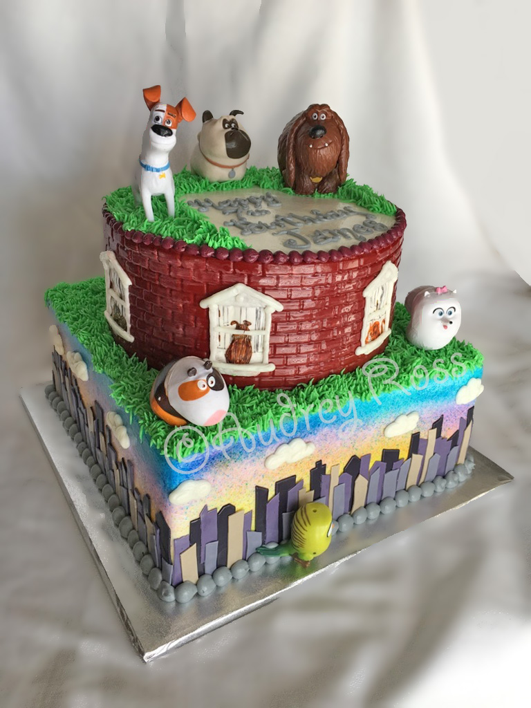 Secret Life of Pets Birthday Cake | This cake depicts scenes… | Flickr