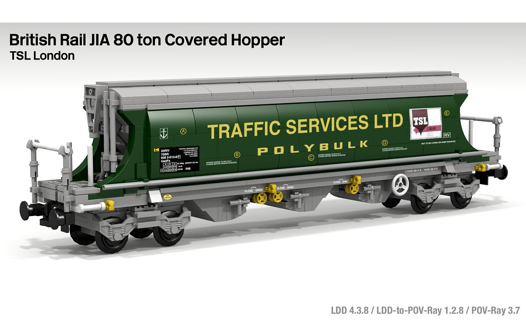 Lego BR JIA 80 ton Covered Hopper Wagon | Flickr - Photo