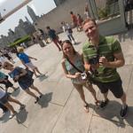 Self photos on the Met roof