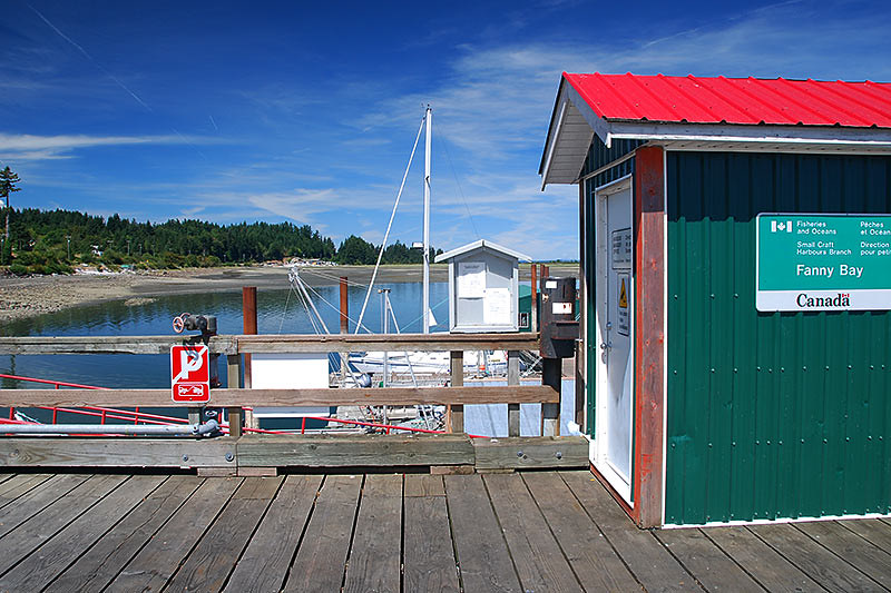 Government Wharf in Fanny Bay, Vancouver Island, British Columbia