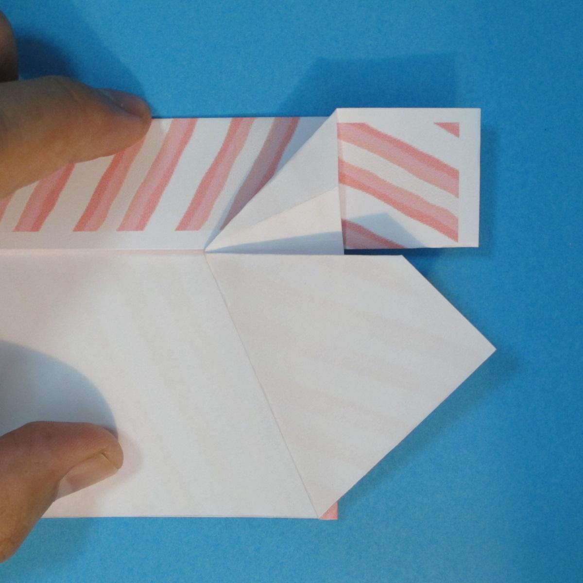 วิธีพับกล่องกระดาษรูปหัวใจส่วนฐานกล่อง 022