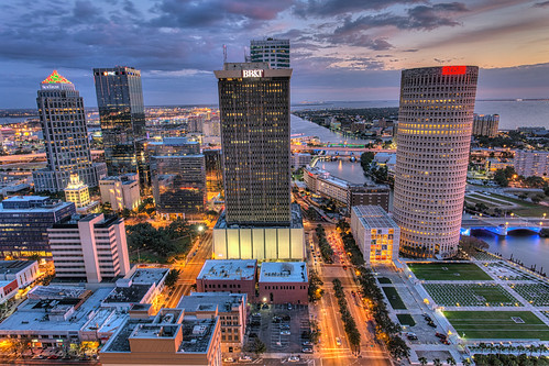 sunset tampa florida beercan processing nik hdr selectivecolor oldcityhall hillsboroughriver photomatix kileypark sykesbuilding rivergatebuilding