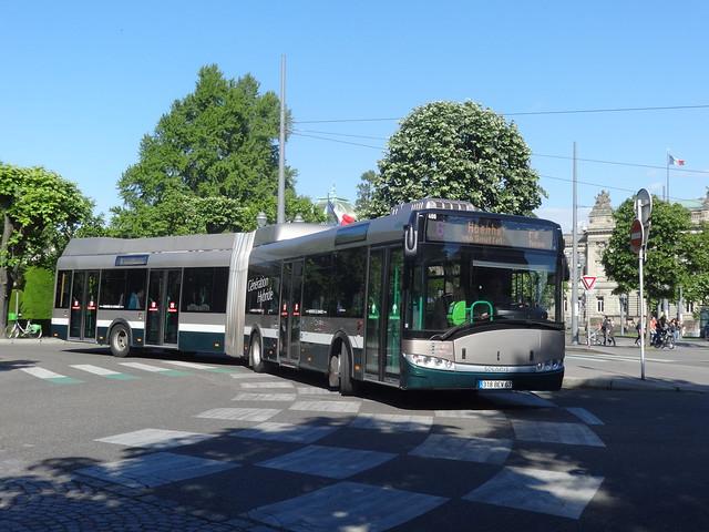Solaris Urbino 18 Hybride n°400  -  Strasbourg CTS - Ligne 6