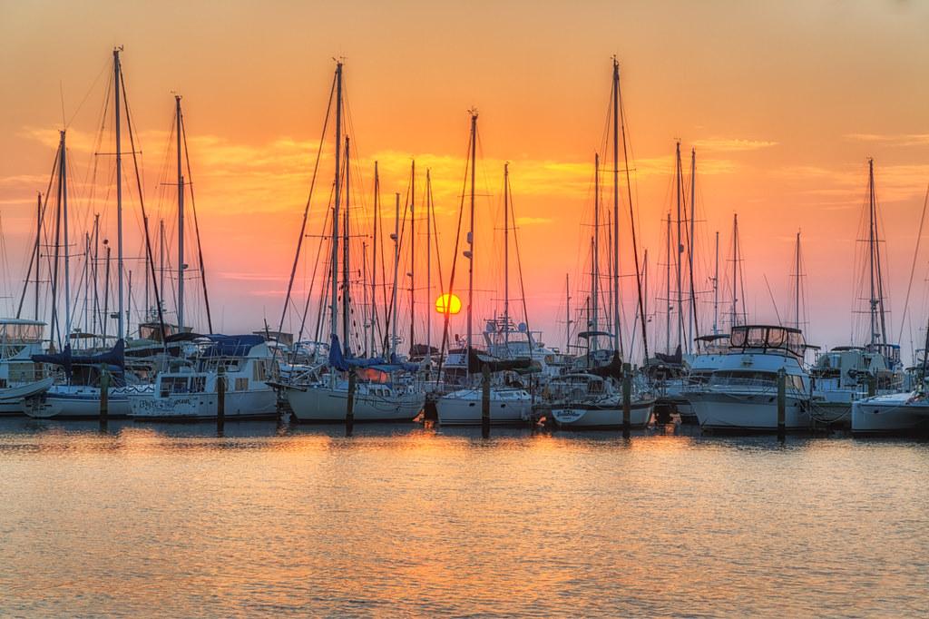 St Petersburg Sailboat Sunrise TM