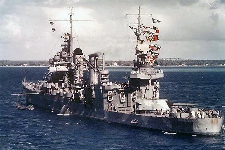 Heavy cruiser USS Quincy