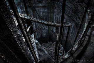 Whittingham Asylum - Water Tower Spiral Stairs | by DugieUK