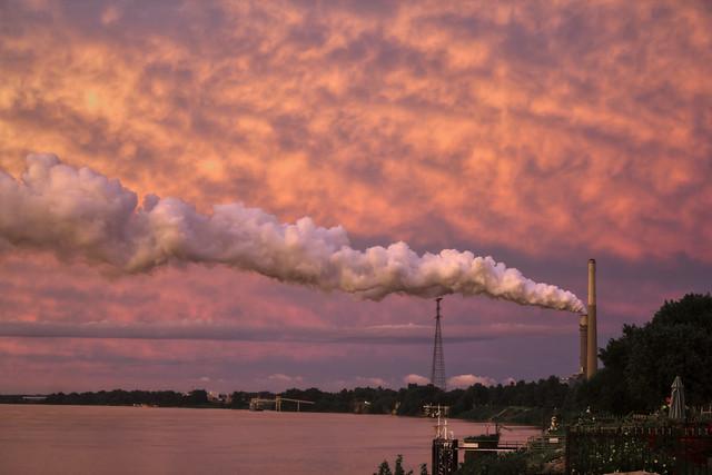 Smokestacks, Ohio River, Owensboro, KY