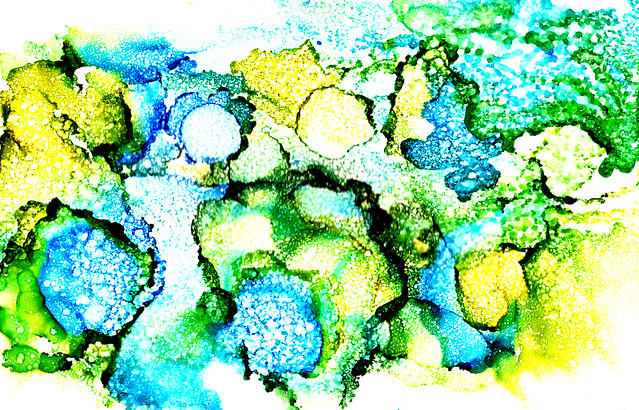 VALLEY OF TREES ABSTRACT IN ALCOHOL INK