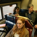 Sarah on train to New Haven