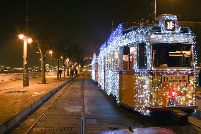 Christmas tram in Budapest 33