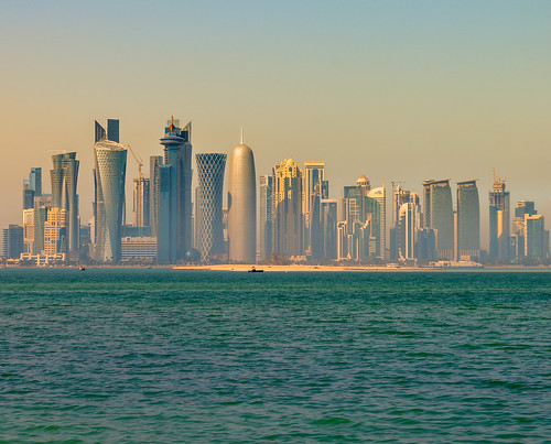Doha skyline in the morning   by Francisco Anzola