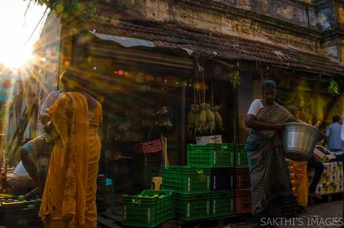parrys corner chennai fruits commerce store shopping sunrise early morning cwc557