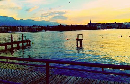 Geneva's sunset