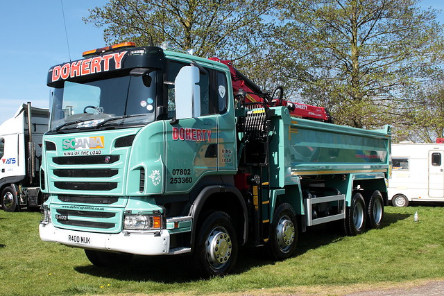 Doherty's King of the Load Scania R400 tipper truck R400 MUK at Truckfest Peterborough 2013
