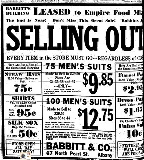 babbitt men's clothing store 1933 old albany ny 1930s | Flickr