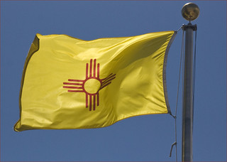 New Mexico State Flag -- The Capitol Santa Fe (NM) 2013 | by Ron Cogswell