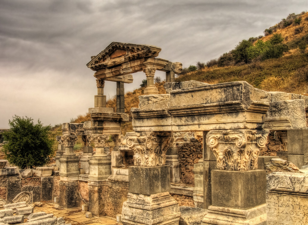 a temple in the Ruins of Ephesus, Turkey | A temple in Ephes… | Flickr