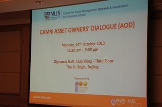 CAMRI Asset Owners' Dialogue (AOD) Beijing, 14 October 2013