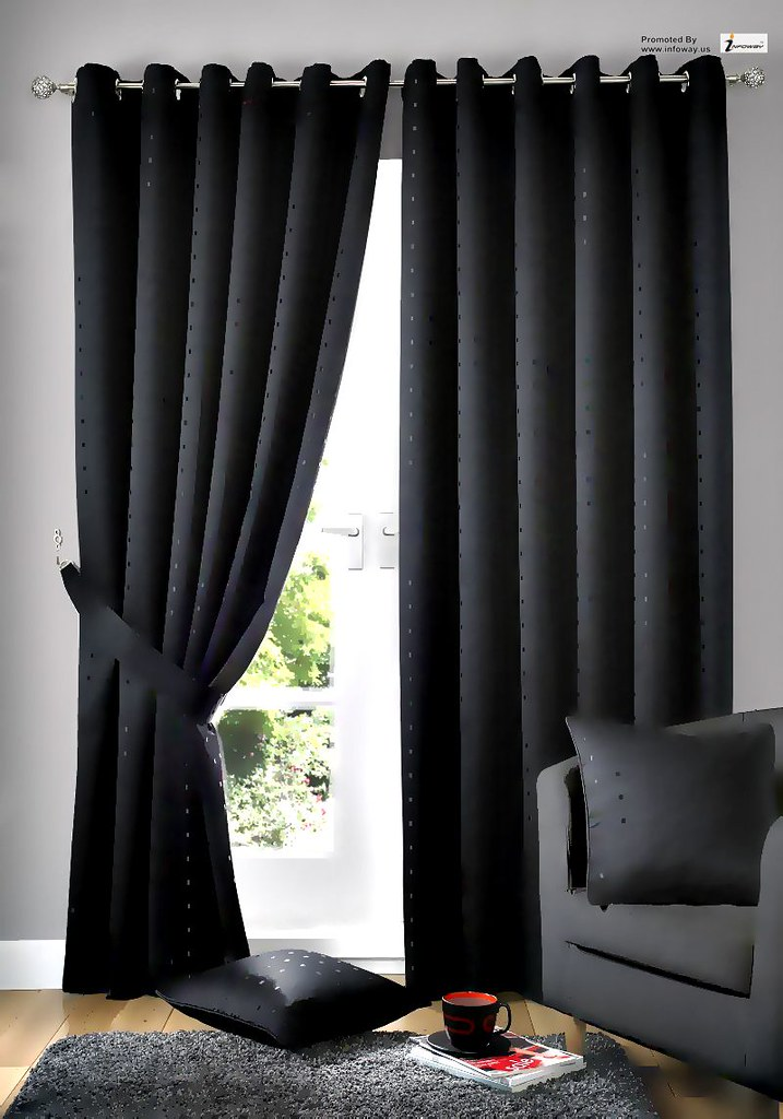 Fabulous Black Curtain With Black Pillow On Black Sofa In Living Ro Pdpeps Interior Chair Design Pdpepsorg