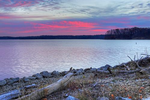 ohio lake color water clouds creek sunrise dawn day cloudy caesar waynesville