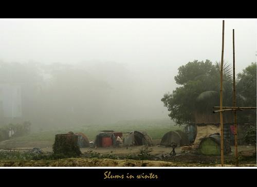 winter fog slum