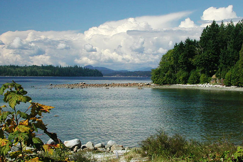 Smelt Bay, Cortes Island, Discovery Islands, British Columbia, Canada