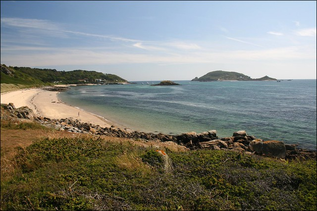 Herm Harbour and beach
