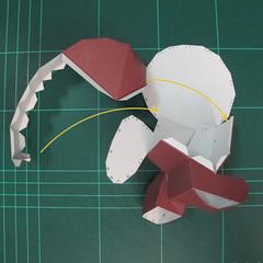 วิธีทำโมเดลกระดาษตุ้กตาคุกกี้รัน คุกกี้รสฮีโร่ (LINE Cookie Run Hero Cookie Papercraft Model) 024