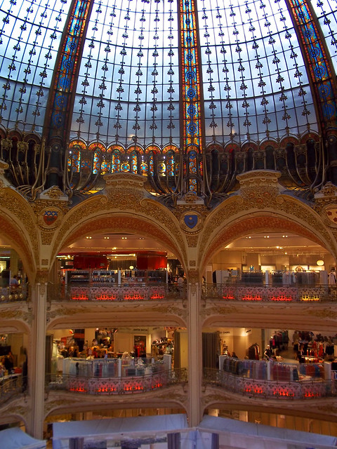 Beautiful Interior of the Galleries Lafayette