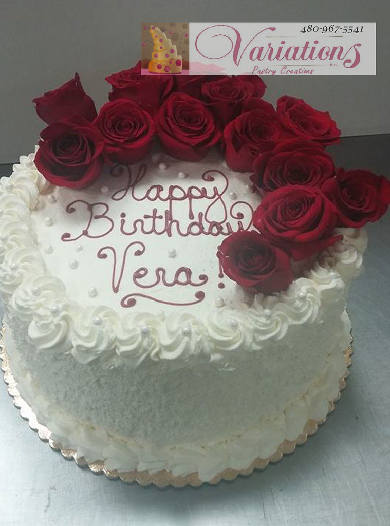 Excellent Velevet Red Rose Cake Happy Birthday Variations Bakery 4Chion Birthday Cards Printable Nowaargucafe Filternl