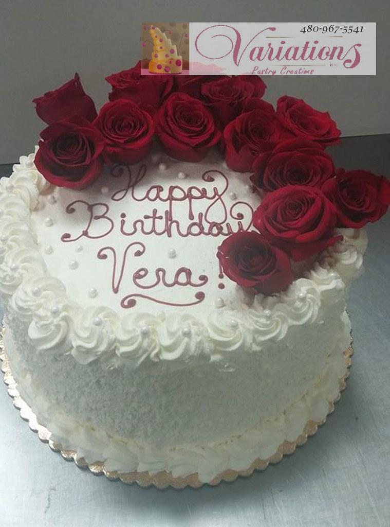 Outstanding Velevet Red Rose Cake Happy Birthday Variations Bakery 4Chion Funny Birthday Cards Online Elaedamsfinfo