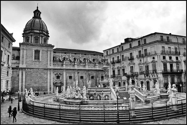 Sizilien / Palermo - Piazza Pretoria (Piazza della Vergogna)