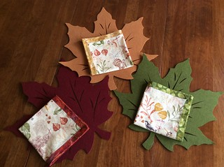 Thanksgiving napkins.  So easy to make. Thx for the tutorial.  Making more for year round use.
