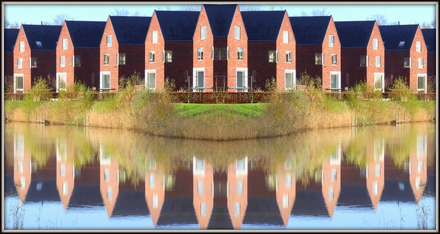 Houses with reflections