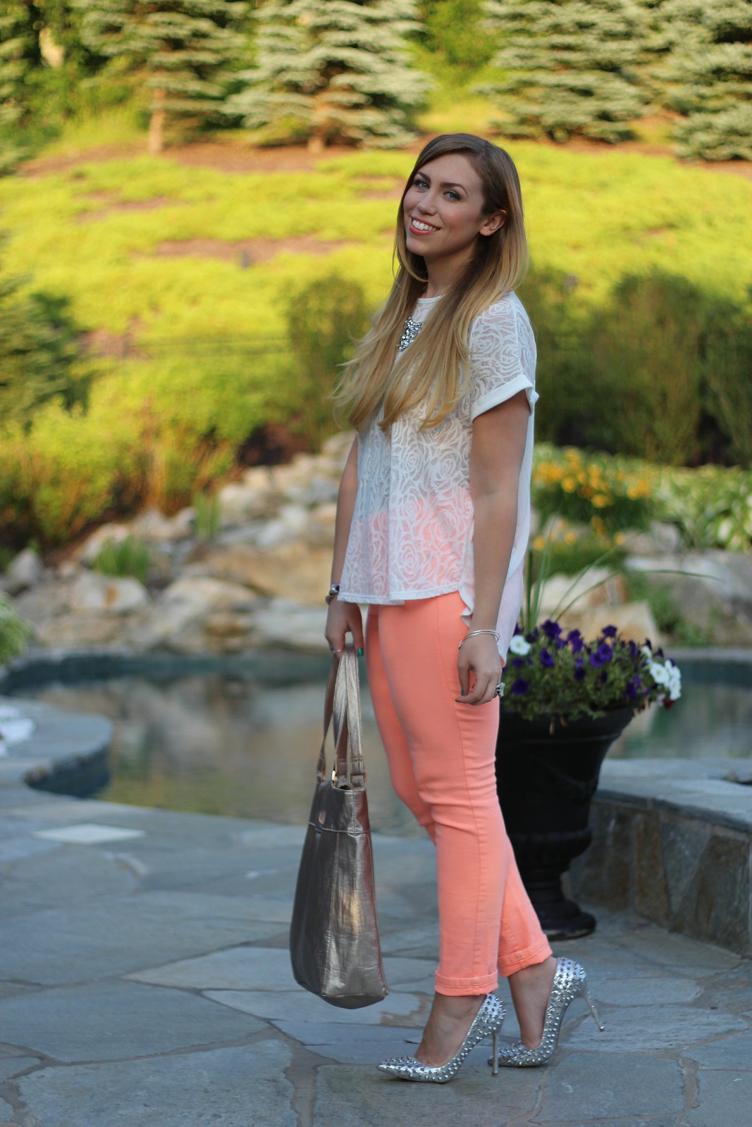 Orange Skinny Jeans | A Look Back at 10 Years of Blogging Living After Midnite Blogger Jackie Giardina