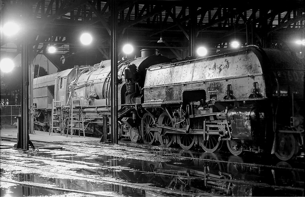 6029 in Enfield Loco Depot, NSW, circa 1974 by Dennis Rittson