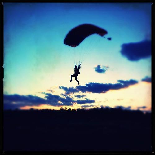 sunset skydiving flight canopy sne skydivenewengland