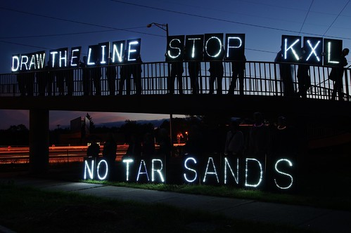 Draw the Line National Day of Action Against the Keystone XL 9/2013 | by Overpass Light Brigade