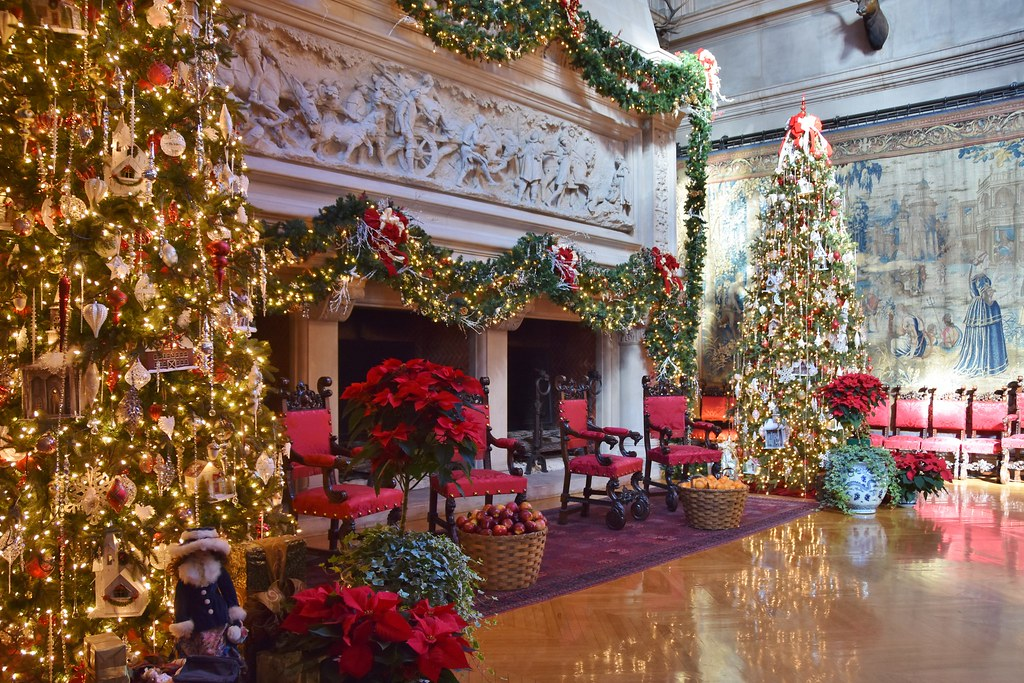 Biltmore Estate Christmas.Biltmore Estate Great Hall With Christmas Decorations Flickr