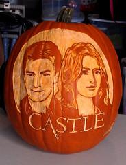 """CASTLE"" Pumpkin Carving Competition, Freshly finished!"