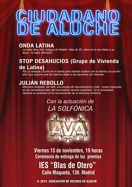 cartel ciudadano de Aluche 2013