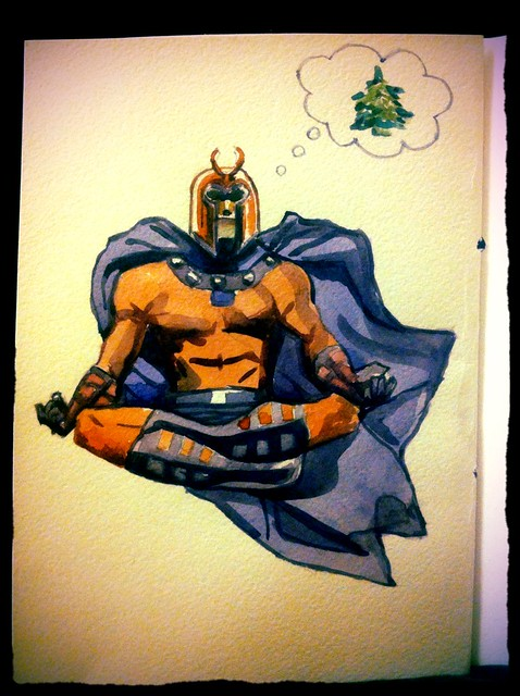 My Gf's painting of Magneto for me! Thanks babe. I love your style.
